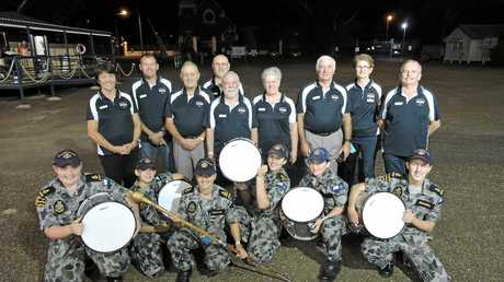 Cadets of TS Maryborough were overjoyed to receive their donations of Marching Snare Drums from the Maryborough Matelots Association.