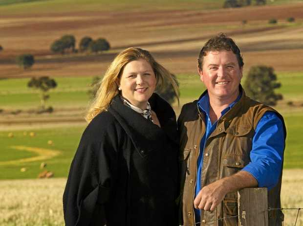 NEW IDEA: Prizewinning SA lamb producers Phil and Michele Lally recently dispersed their flock to focus on the new venture.