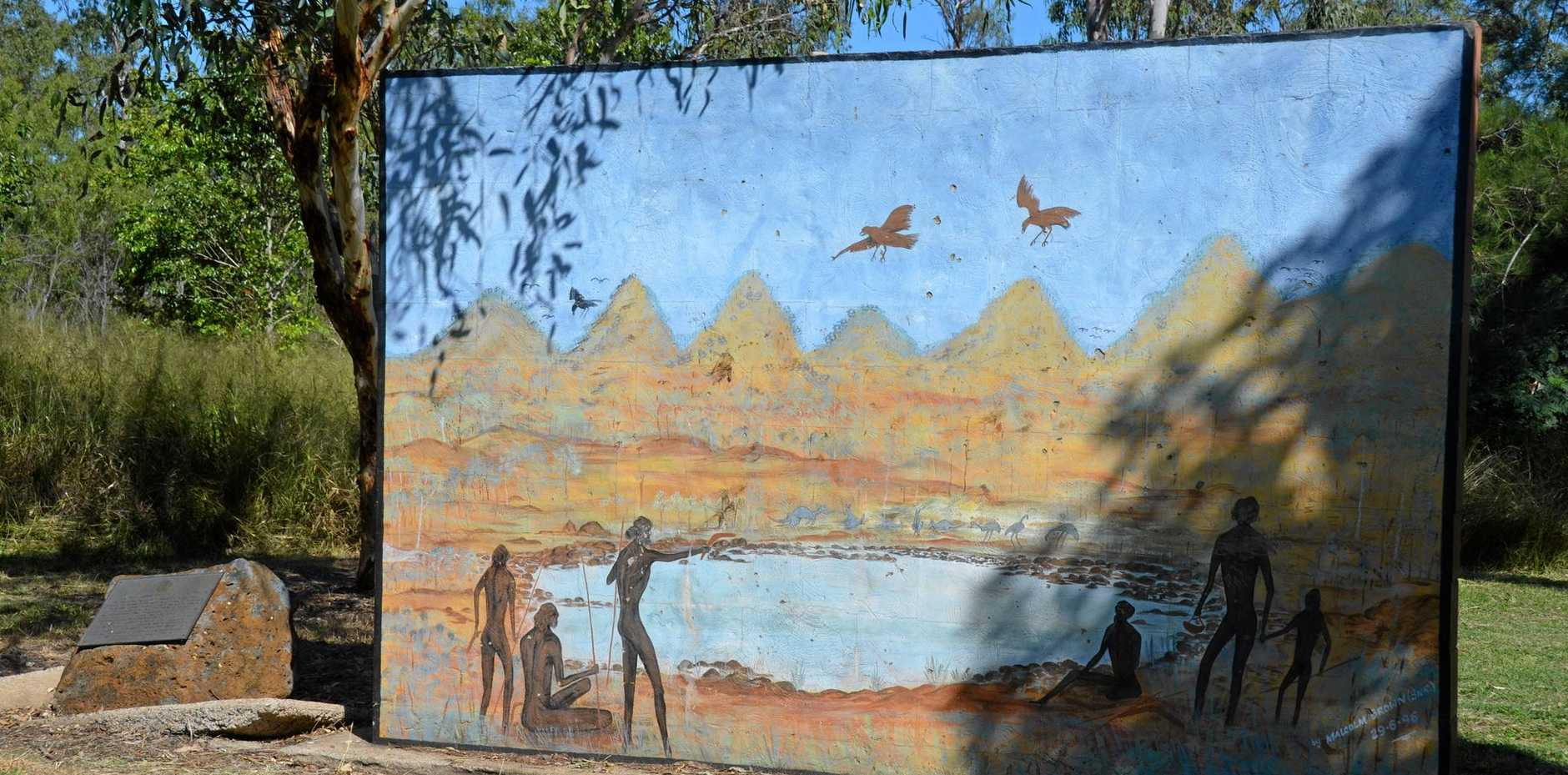 LEGACY: The indigenous mural depicting Ban Ban Springs and the Seven Sisters in the North Burnett.