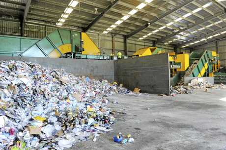 Clarence Valley Council waste disposal process at Grafton Regional Landfill.