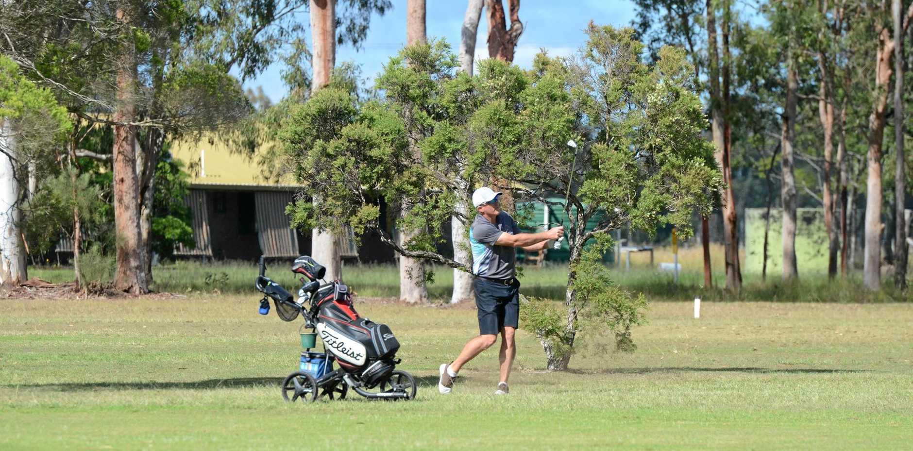KINGAROY KING: Graham Hourn was again crowned the Kingaroy Golf Club A-grade champion.