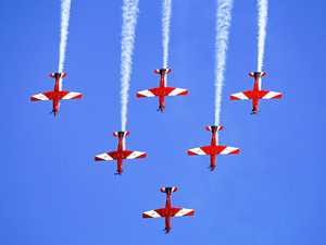 ACROBATIC: The RAAF Roulettes dazzled the crowd with a stunning aerial display.