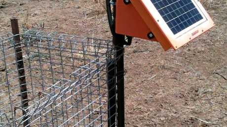A remote water monitoring system powered by solar panels.