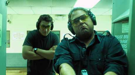 Miles Teller and Jonah Hill in a scene from the movie War Dogs.