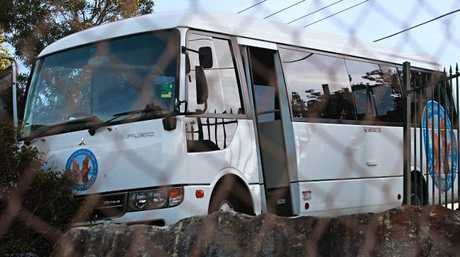The bus was a hanging over a cliff at Stewart House in Freshwater.
