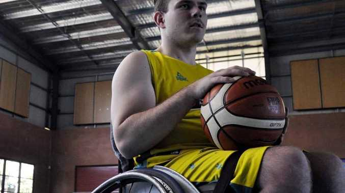 Hayden Sieber is moving a step closer to one day competing at the Paralympics - after moving from swimming to wheelchair basketball