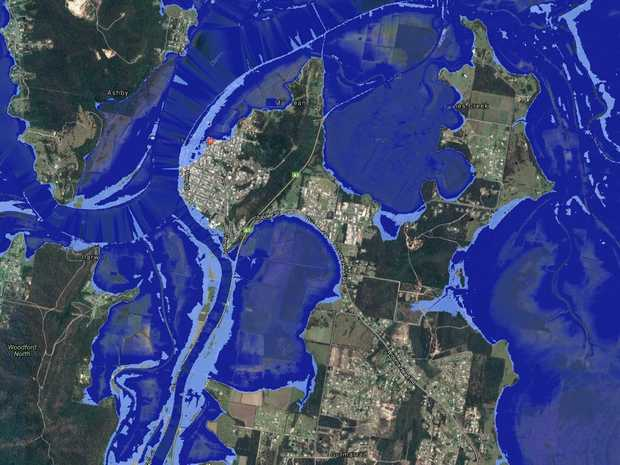 Sea The Valleys Future Mixed Reaction To Sea Level Map Grafton - Sea rising map