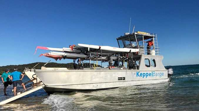 TO THE RESCUE: Keppel Barge donated it's services to the Yeppoon Coast Guard Search and Rescue Exercise.