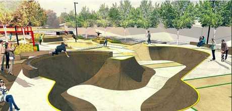 A skate park design concept.