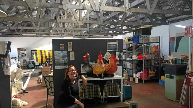 Jyllie Jackson at new home of Lantern Parade at LightnUp Inc in Keen St Lismore.