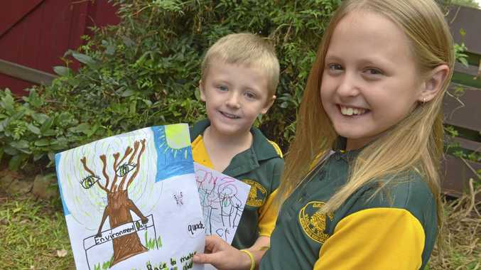 HELPING HANDS: Blayde and Leighla Coutts want to do their part to help the environment.