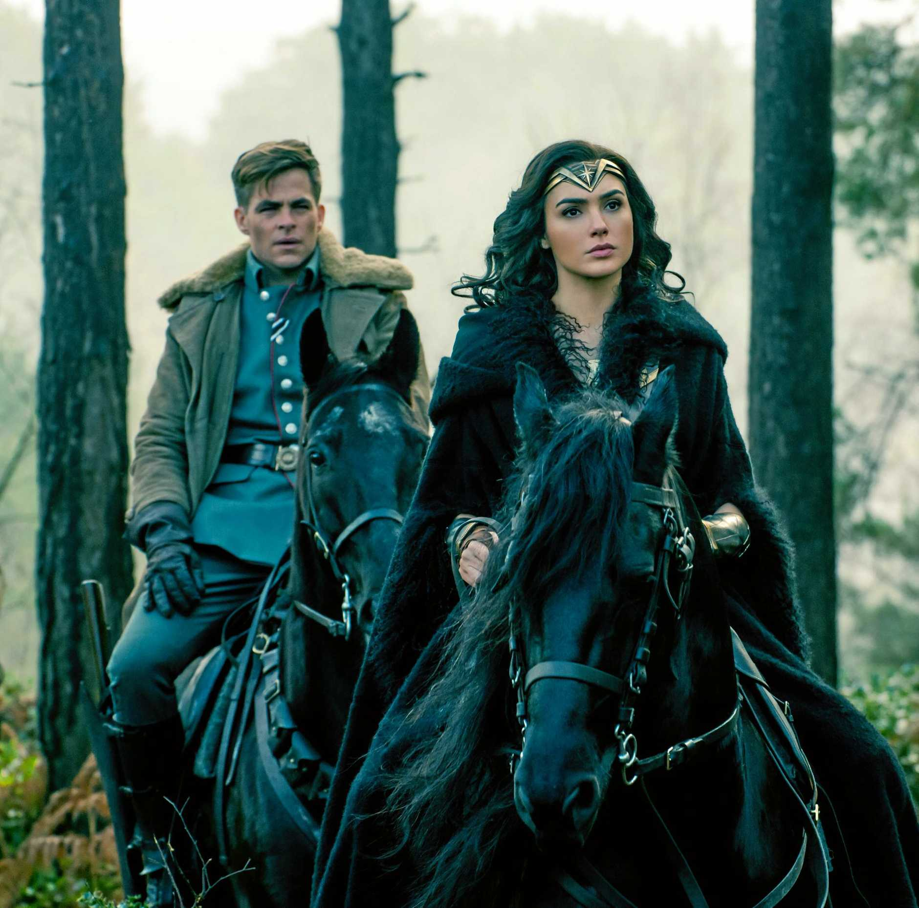 Gal Gadot and Chris Pine in a scene from the movie Wonder Woman.