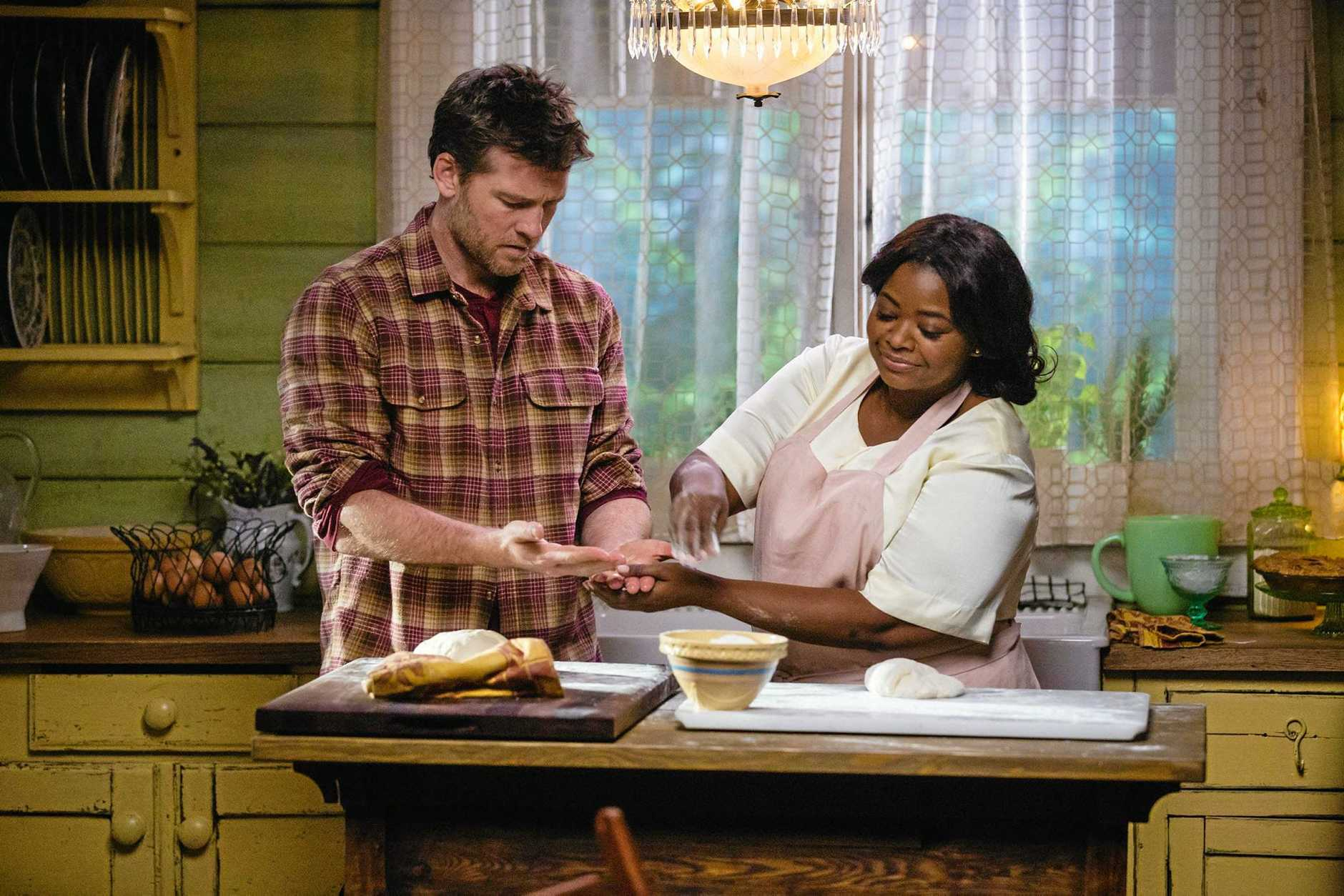 Sam Worthington and Octavia Spencer in a scene from the movie The Shack.