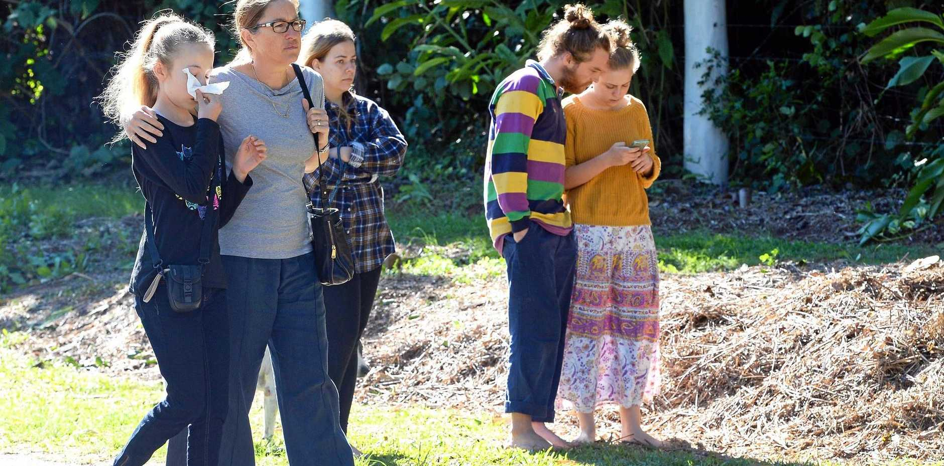 URBAN FOOD STREET CLEARED: Buderim fruit trees destroyed on one of the Sunshine Coast's most iconic streets, outraging residents, (foreground) Zoe Kamarainos and Lisa Edward.
