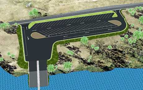 An artist's impression of the long-awaited design for the North Rockhampton boating facility.