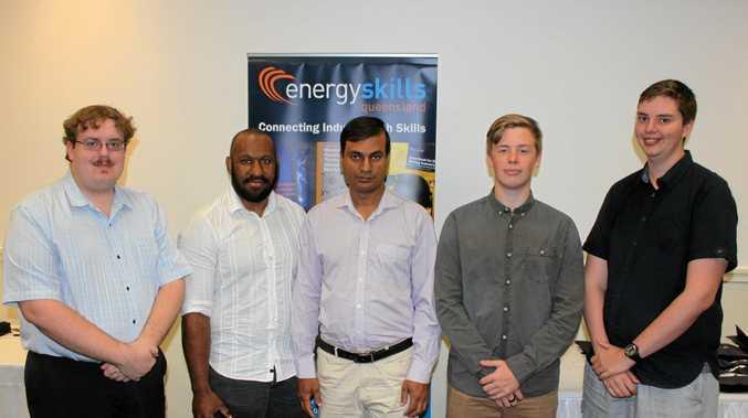 SKILLED: Certificate II in Telecommunications graduates Michael Andrews (left), Emmanuel Saplos, Md Arifin Monowar, Nickolas Day, Nathan Kelly.