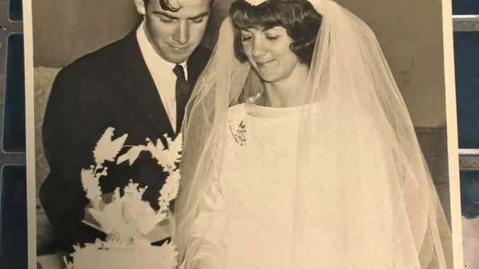 WEDDING BELLS: Barbara and Colin Jimmieson on their wedding day 50 years ago.