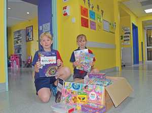 Students colour lives of sick kids at Hervey Bay Hospital