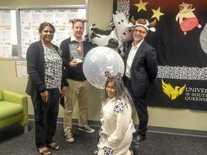 Kindy kids delight at The Cow Tripped Over the Moon