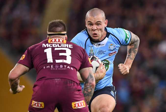 David Klemmer in action for the Blues. Photo: AAP