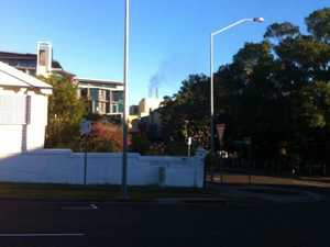 Thick, black smoke pours out of Ipswich police station
