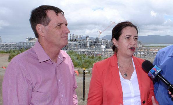 Dr Anthony Lynham with Premier Annastacia Palaszczuk.