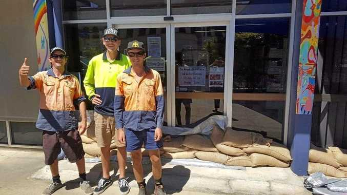 HELPING HAND: Mick, Jack and Coby from CQ Waste.