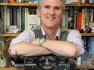 Prolific author touches down