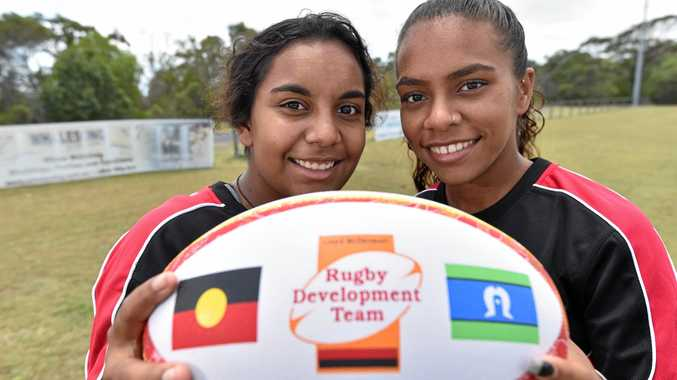QUALITY: Jakara Miller and Rose Robe played at the Rugby 7s Australian U17 Championships last year.