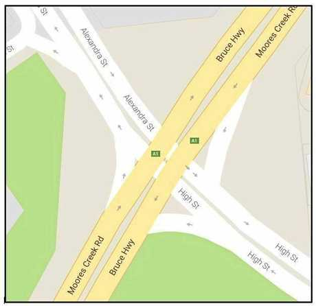 ROAD WORKS: At Bruce Highway (Moores Creek Road)/Alexandra-High Streets intersection in Rockhampton.