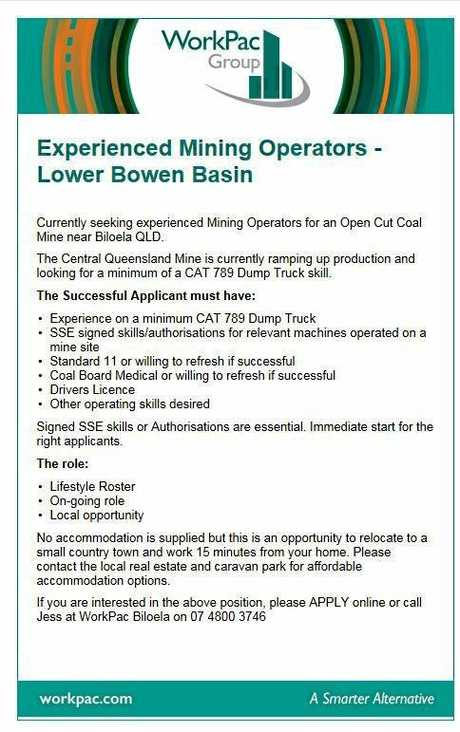 Mining jobs are on the rise in CQ.