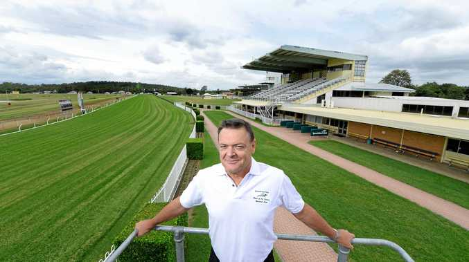 GOOD TIMES AHEAD: Ipswich Turf Club general manager Brett Kitching will be a happy man today when a $13 million funding injection into the club is announced by Grace Grace.