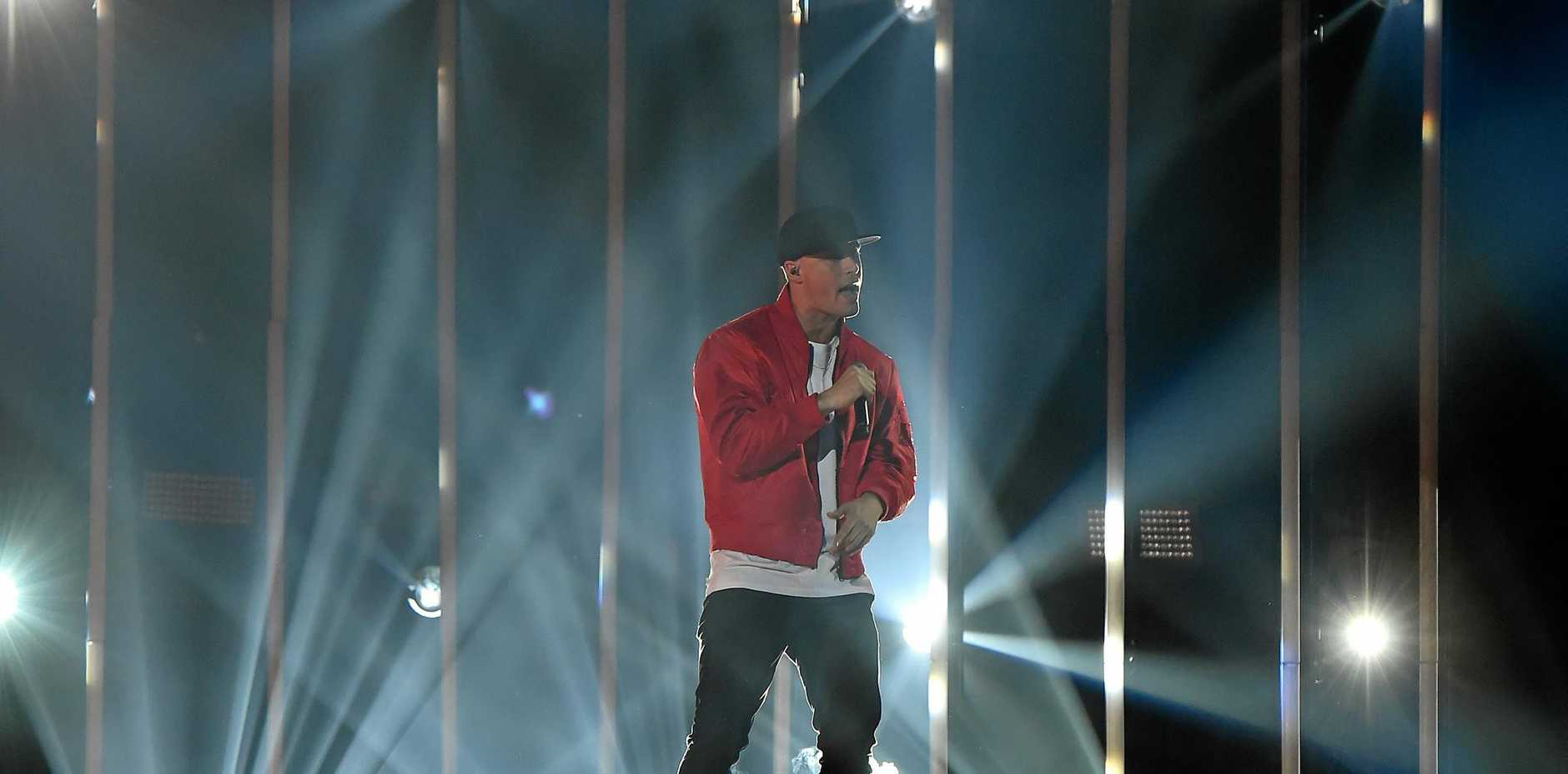 Australian hip hop artist Illy performing at the ARIAs