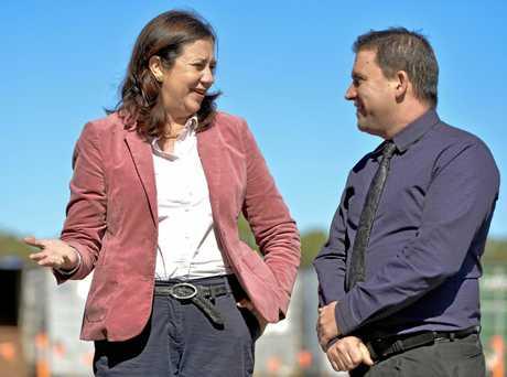 Queensland Premier Annastacia Palaszczuk and Gladstone Mayor Matt Burnett.