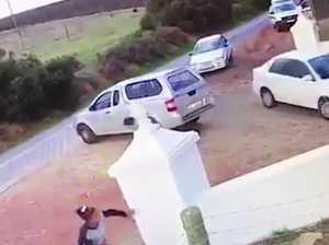 CCTV Police chase killers
