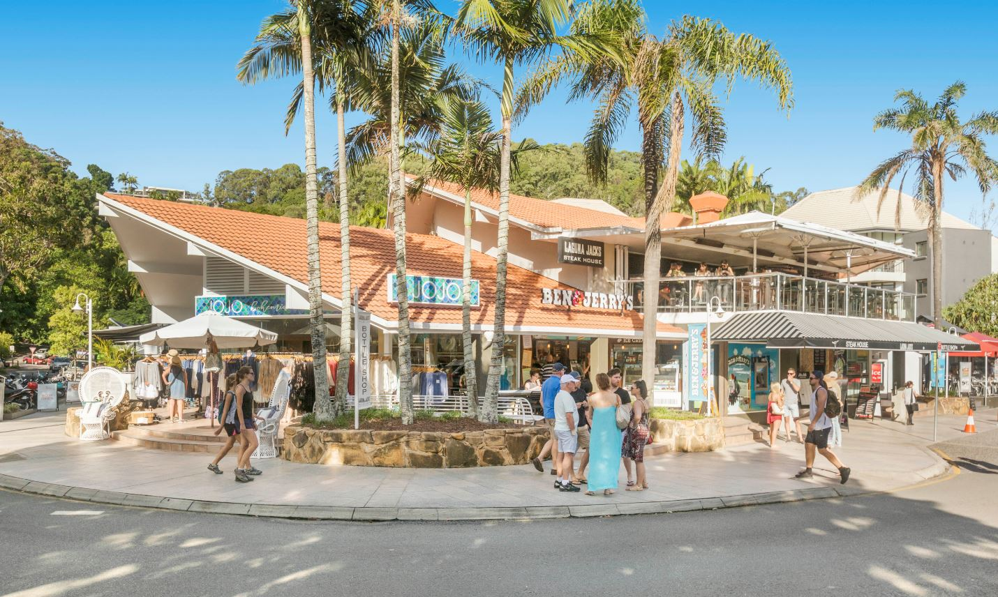 50 Hastings Street – Noosa Heads' renowned tourist hub – the two storey retail asset comprises six tenancies, including the popular Laguna Jacks bar and restaurant, a 7 Eleven, Ben & Jerry's Ice Creamery and Betty's Burgers.