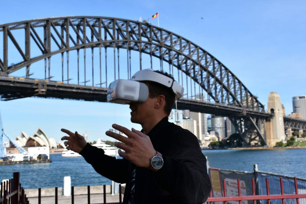 DJI's goggles were a big hit at the Sydney launch of Spark.