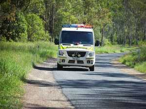 Motorcyclist suffers groin injury in Warrego Hwy collision