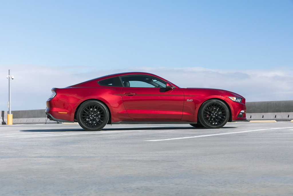 BETTER STANCE: Ford Mustang Performance Pack goodies include upgrades for the suspension, exhaust and styling and are now available at Ford dealerships for the first time.