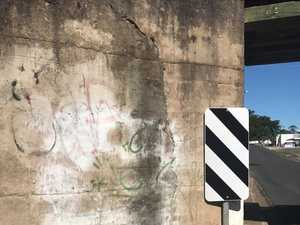 Large crack in M'boro rail bridge causes concern