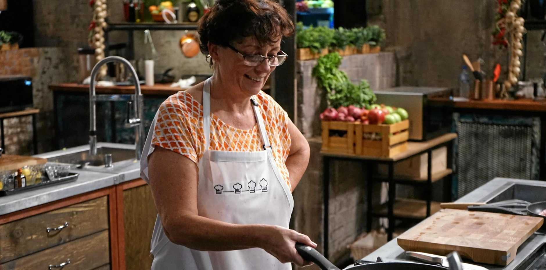 TOP COOK: Pelican Waters resident Collette Mitrega cooks up a storm on SBS show The Chefs' Line.