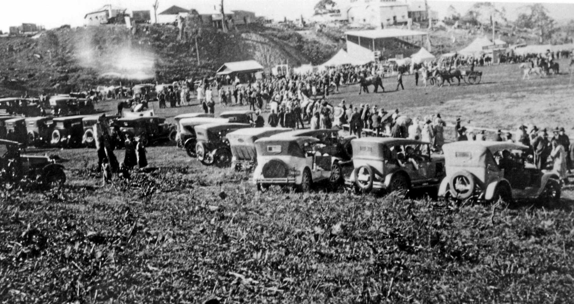 Parade at Maleny Show, ca 1930.