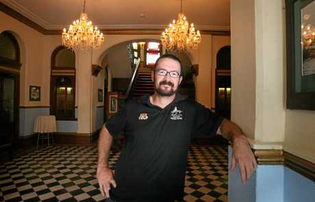 Ryan Turnbull in the foyer of the Criterion Hotel.   Photo Chris Ison / The Morning Bulletin.
