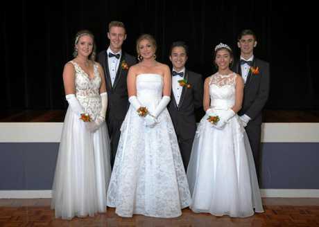 SPECIAL NIGHT: Debutantes and parents, Brodhi Doyle Cavanagh, Ben OSullivan, Katie Busk, David Jimenez, Beverlyn Oakley and Nathan Barnes.