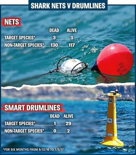 Shark nets v drumlines