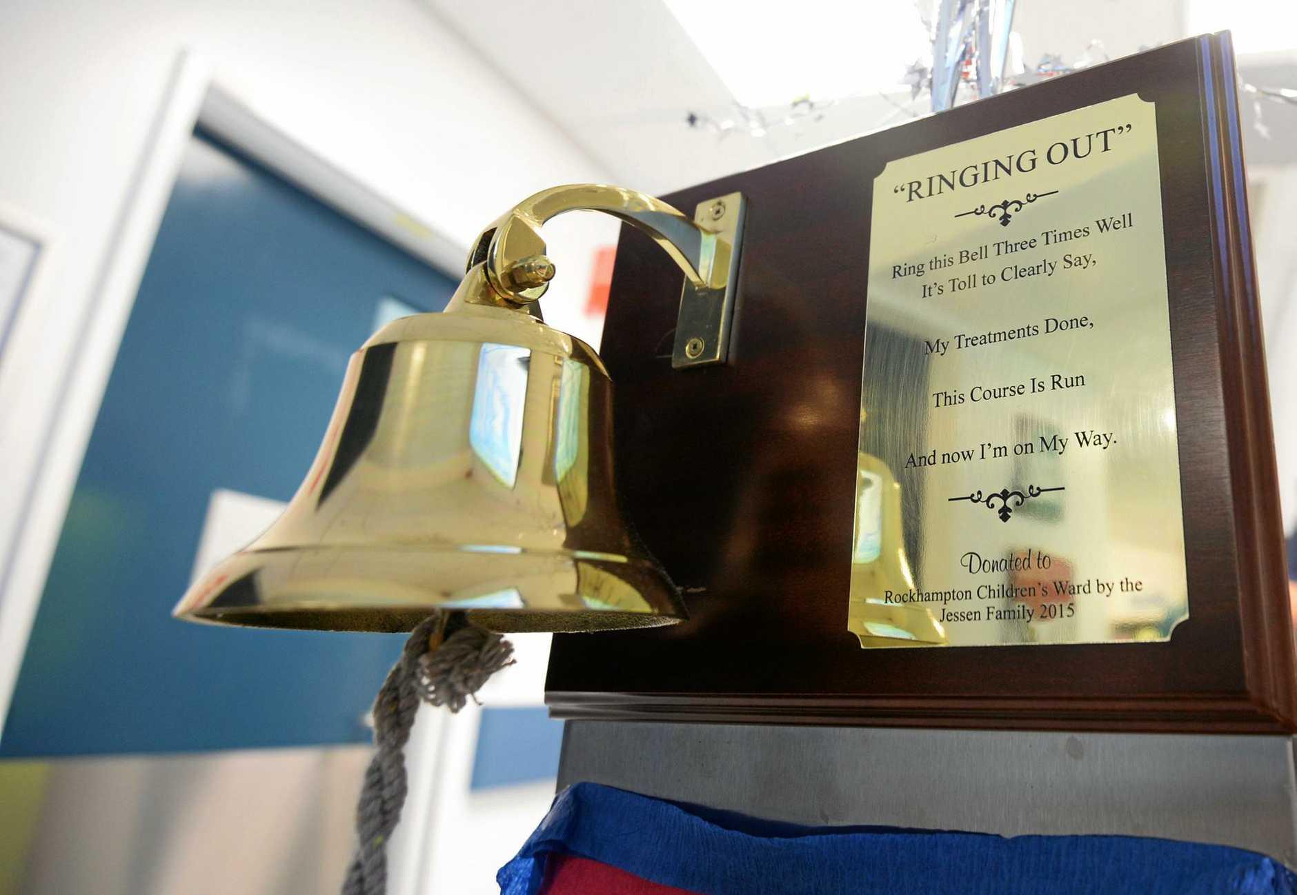 The Rockhampton hospital chemo bell.
