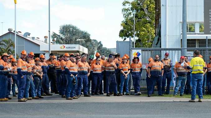 Aurizon workers will hold a mass meeting in Bolsover St this morning.
