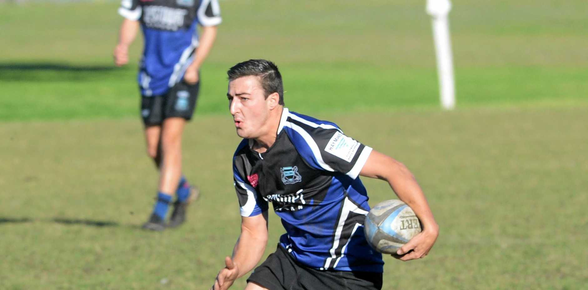 Mitch Knight in action for Ballina in Far North Coast rugby union. Knight will take over at five-eighth today with his brother Grant away representing NSW Country. reille Merlet-Shaw/The Northern Star