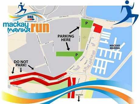 BMA Mackay Marina Run parking map