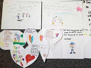 School students send heartfelt letters to Mount Larcom Police Station